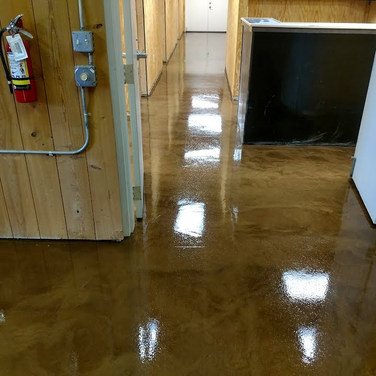 "Metallic Epoxy Floors - B&B Pecans - Turkey, NC - ""Driftwood"""