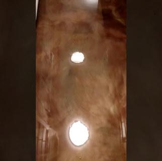 Triple Metallic Epoxy Floor - Raleigh, NC - Overcast, Sandbar and Cannon