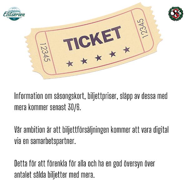 Information om säsongskort, biljettprise