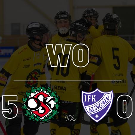 Örebro tilldelas WO seger mot Kungälv