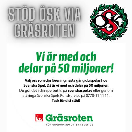 Stöd ÖSK via Gräsroten