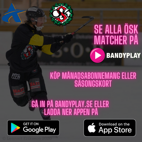 Se alla ÖSK matcher på Bandyplay