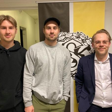 Sjölander x 2 har skrivit på nya kontrakt
