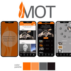 MUSEUM OF TOLERANCE  creative direction + design ux design  refresh logo + rebrand name   create mot app :: greeting_onboard  app home page exhibit homepage floor map
