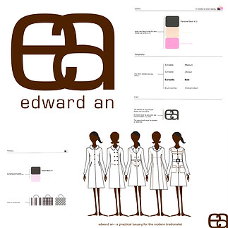 EDWARD AN  creative direction + design  brand identity, seasonal line sheets hand illustration