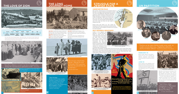 exhibit: The Birth of Israel  Creative direction/ brand design and marketing materials.