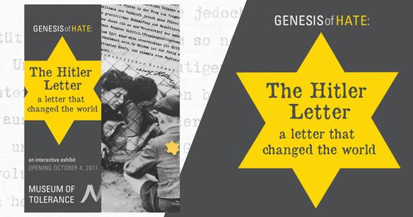 exhibit: The Hitler Letter  Branding, marketing and advertising design.