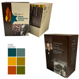 MORIAH FILMS   creative direction + design project + print management  dvd library box set branding color palette, design packaging unit including 12 dvd covers