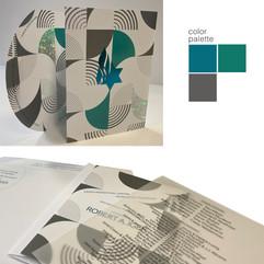 BOB IGER GALA 2019  creative director + design  print management  event branding, invite package 4 PMS, 2 foils (1holographic), spot uv + die cut