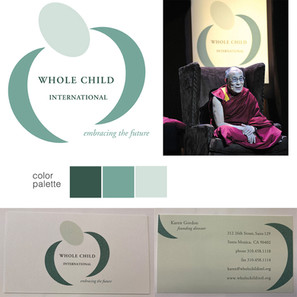 WHOLE CHILD INTERNATIONAL  creative director + design     brand identity :: logo :: collateral :: stationary