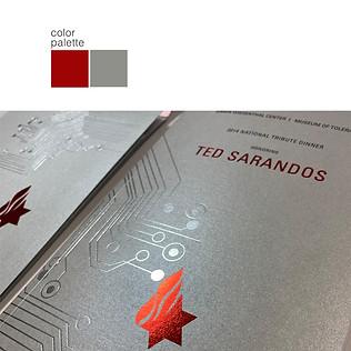 TED SARANDOS GALA, 2014  creative director + design  print management  event branding & invite package 2 foils, spot uv
