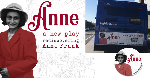 event: Anne, a play  Branding, marketing and advertising design.