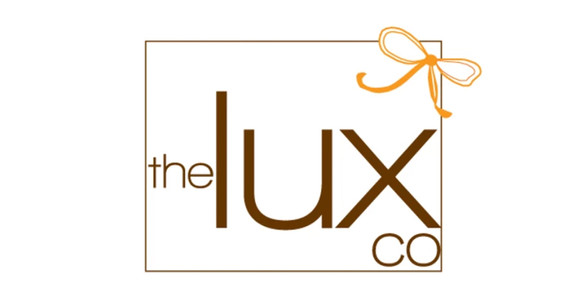 Client: The Lux Co.  This logo for a gift shopping company, Lux is orange and chocolate brown.  Lux crafts beautiful gifts worthy of the clients she buys and wraps for.  I wanted to create a clean, modern design, with a fun sketched bow.  I knew this design would look fabulous as letterpressed items.