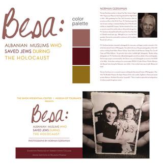 BESA EXHIBIT temporary exhibit at museum of tolerance  creative direction + design
