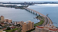 View from flight lesson over sarasota