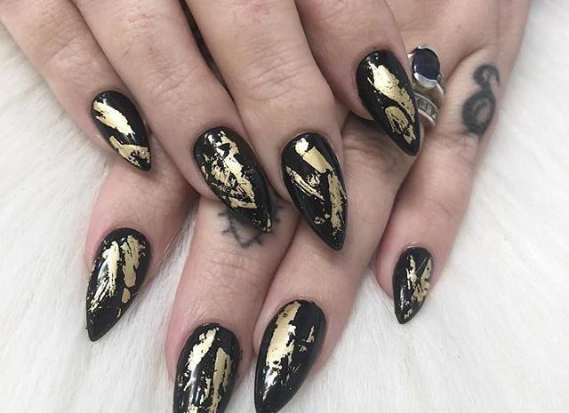 Gold foil anyone___Nails by Amanda _#gol