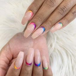 Taste the rainbow 🌈 _#nail #nailsofinst