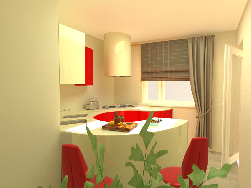 Пример оформления кухни