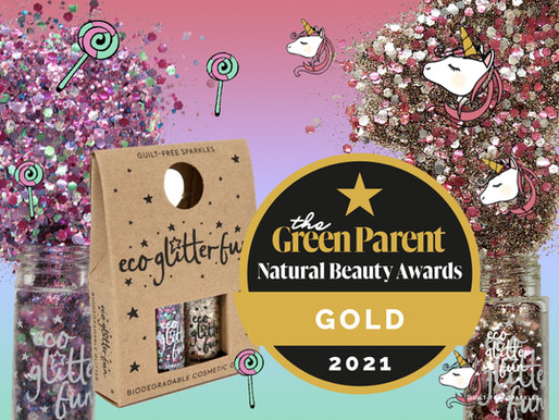 Eco Glitter Fun wins Gold in Green Parent Natural Beauty Awards 2021