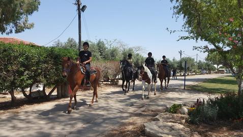 Horseback riding around the village
