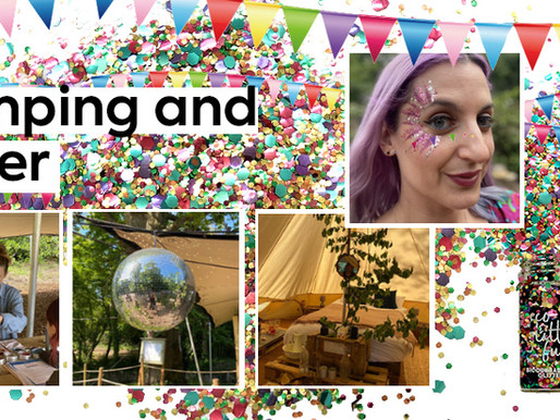 Glamping and Glitter Artist training at Marston Park in Somerset