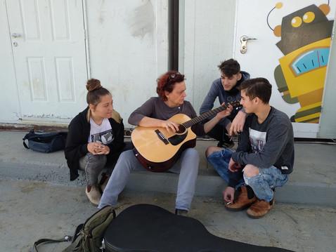 Guitar at school break