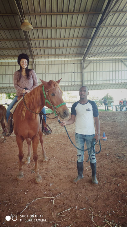 Horse riding is taught