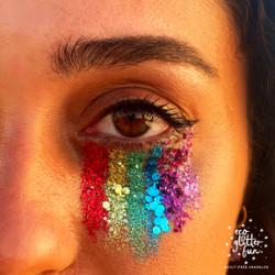 PRIDE Glitter makeup Look