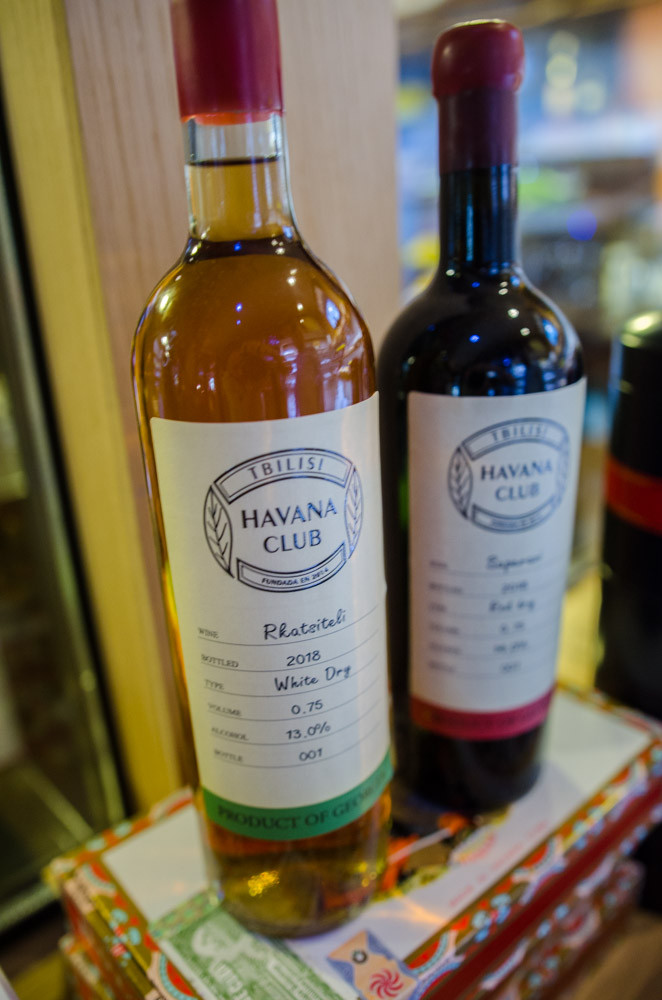 Havana Club's own Georgian wine