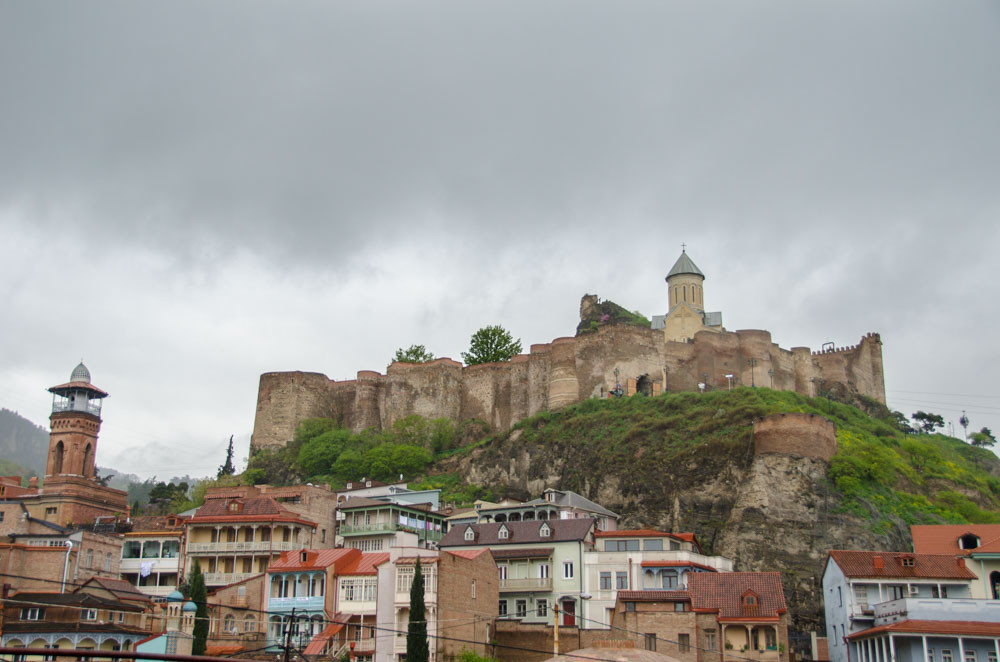The Narikala Fortress in the Old City