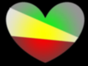 red gold and green heart