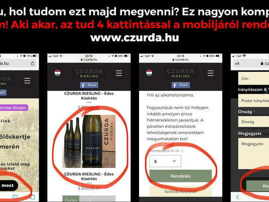 You can order it with 4 clicks from your mobile!