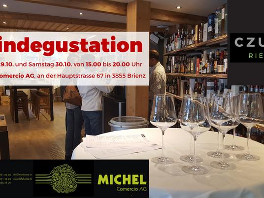 My first wine tasting in Switzerland with Bruno Michel in Brienz