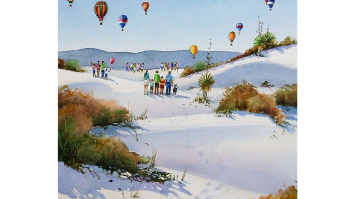 Balloons Over White Sands