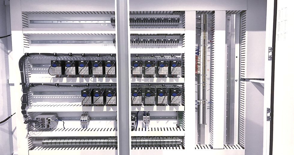For over 30 years, Dubak Electrical Group's electrical and control panel fabrication division has been capable of meeting our customers' needs in engineering, design and fabrication. Our custom control panels and system assemblies range from small single junction box assemblies to multiple-enclosure PLC and DCS systems. Our panel fabrication division has over 10,000 square feet allowing us to provide: inventory, fabrication, staging factory testing, and shipping of even the largest panel systems.
