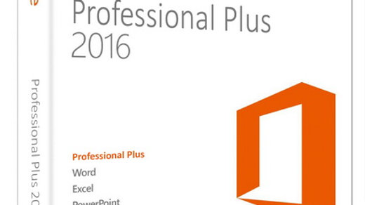 Microsoft Office 2016 Professional Plus 32bit & 64bit for Windows - 1 PC Licence