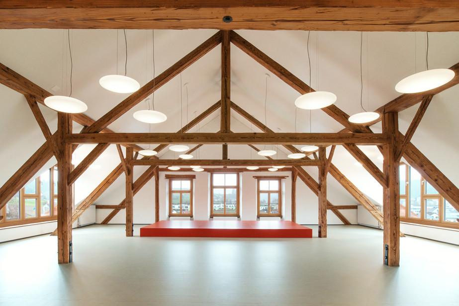 Innensanierung Aula | Dachgeschoss