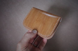Folding Card Wallet (Kakishibu Cordovan)