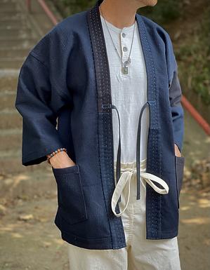 Hanten Jacket (Black/Indigo Sashiko)