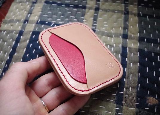 Card Wallet 5 Pocket (Natural + Red)