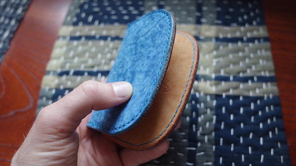 Folding Card Wallet (Buffed Blue)
