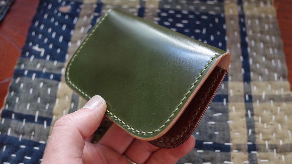 Folding Card Wallet (Green/Chocolate)