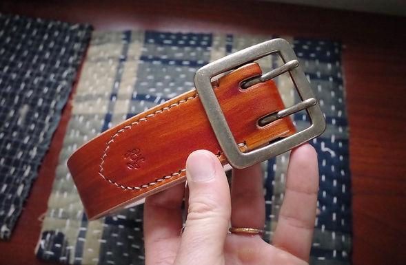 Kakishibu Painted Belt (Double Prong)