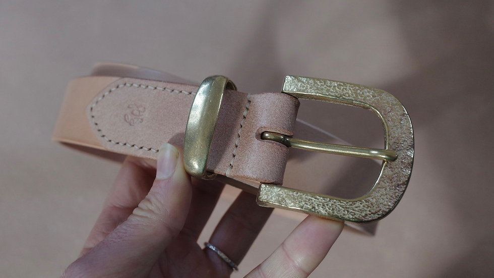Belt (Natural with Hammered Brass)
