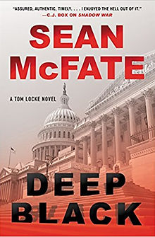Sean McFate Tom Locke series Deep Black cover