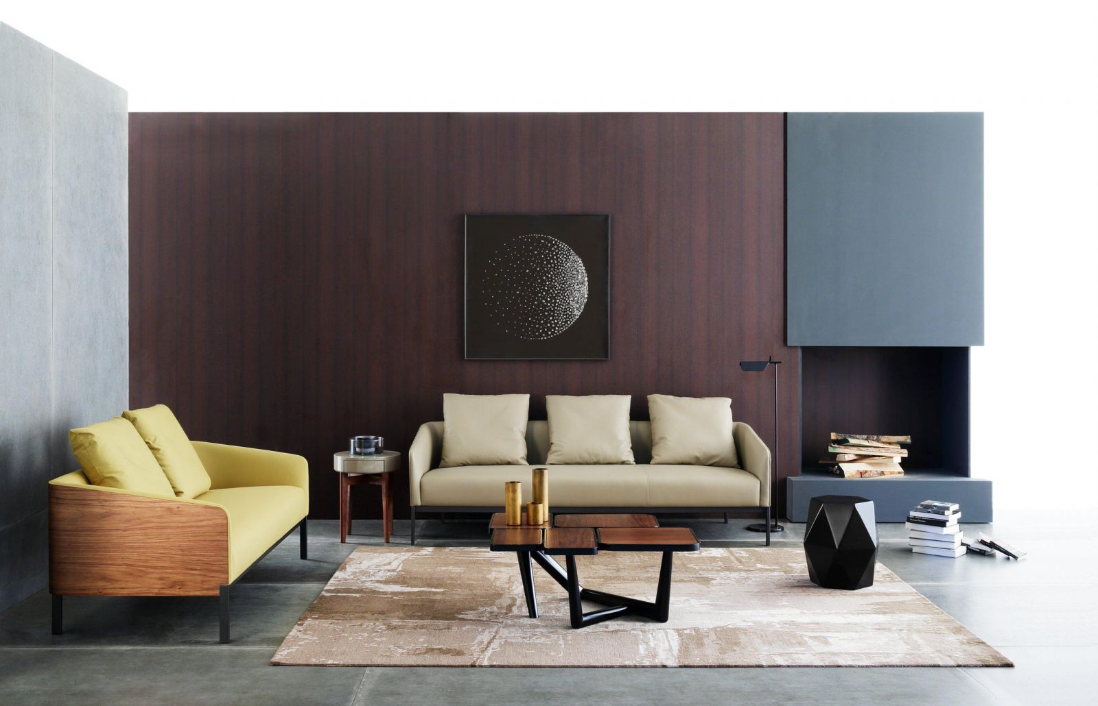 HC28-IHOME sofa-MISS FIVE coffee table