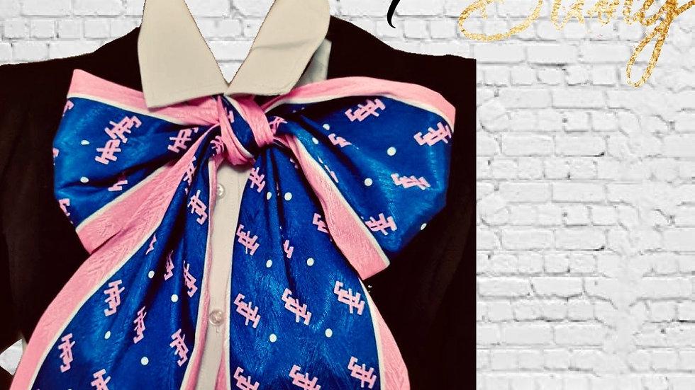 JJOA Navy/Pink Tie Scarf / Stole