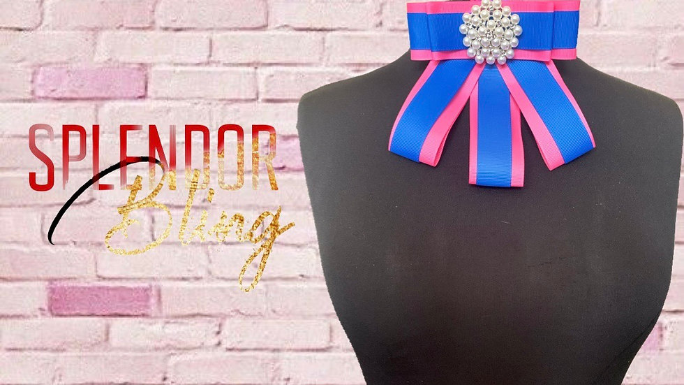 JJOA Pink & Blue Ribbon Brooch