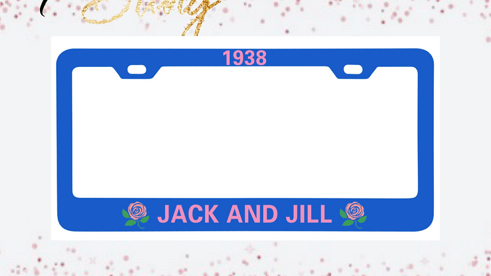 Jack & Jill Car Tag Frame