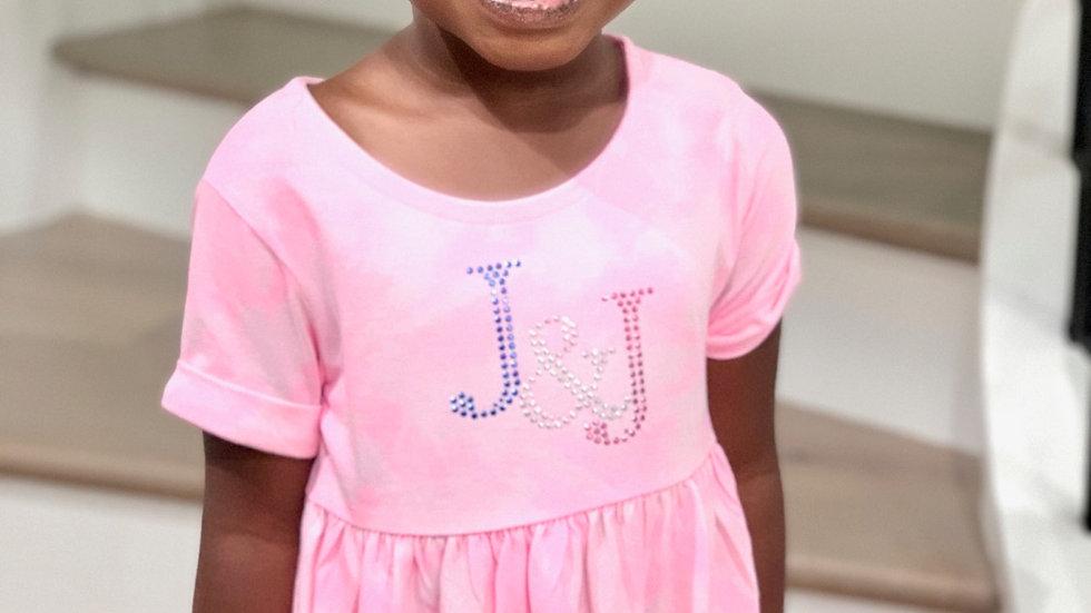 Toddler Girl Pink Tie Dye Dress